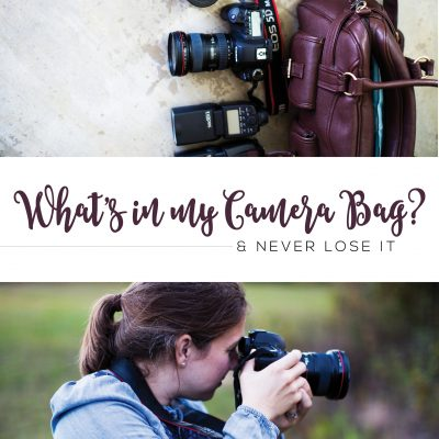 What's in My Camera Bag + Tile It