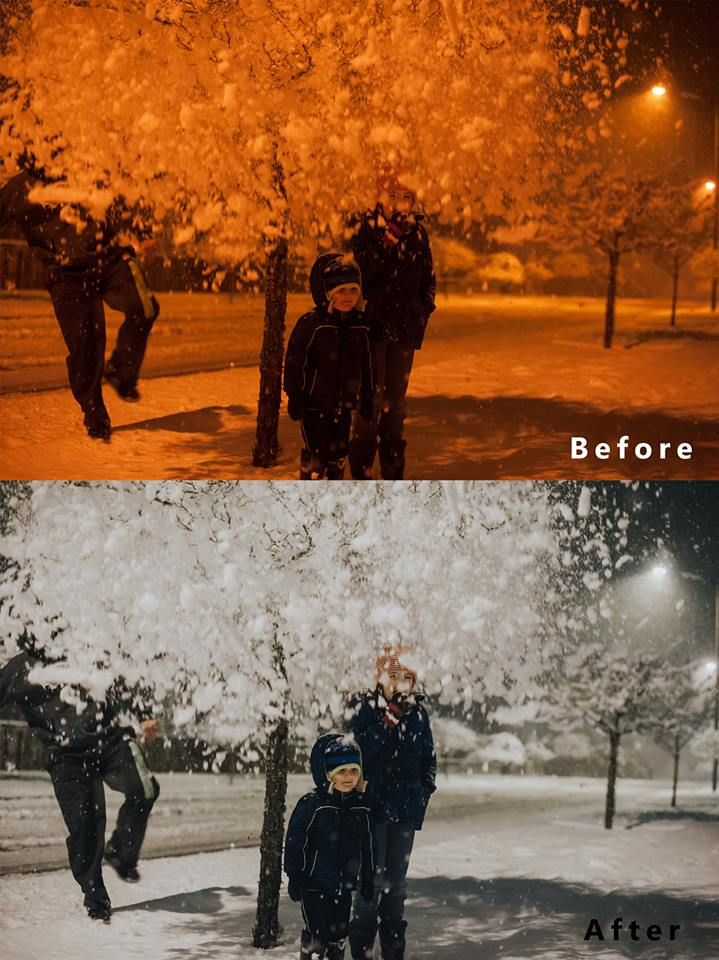 how to edit snow pictures