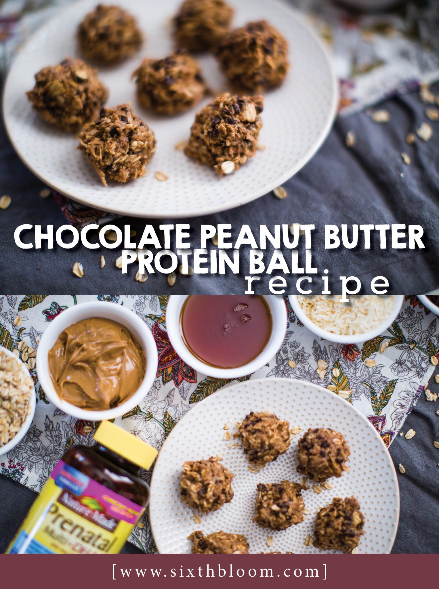 Chocolate Peanut Butter Protein Ball Recipe
