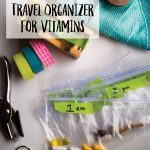 DIY travel vitamin organizer