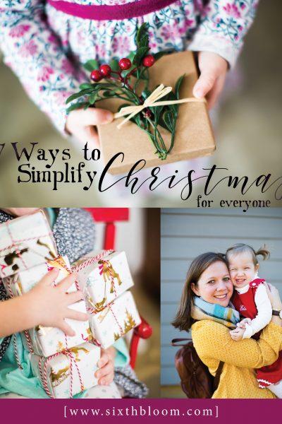 7 Ways to Simplify Christmas