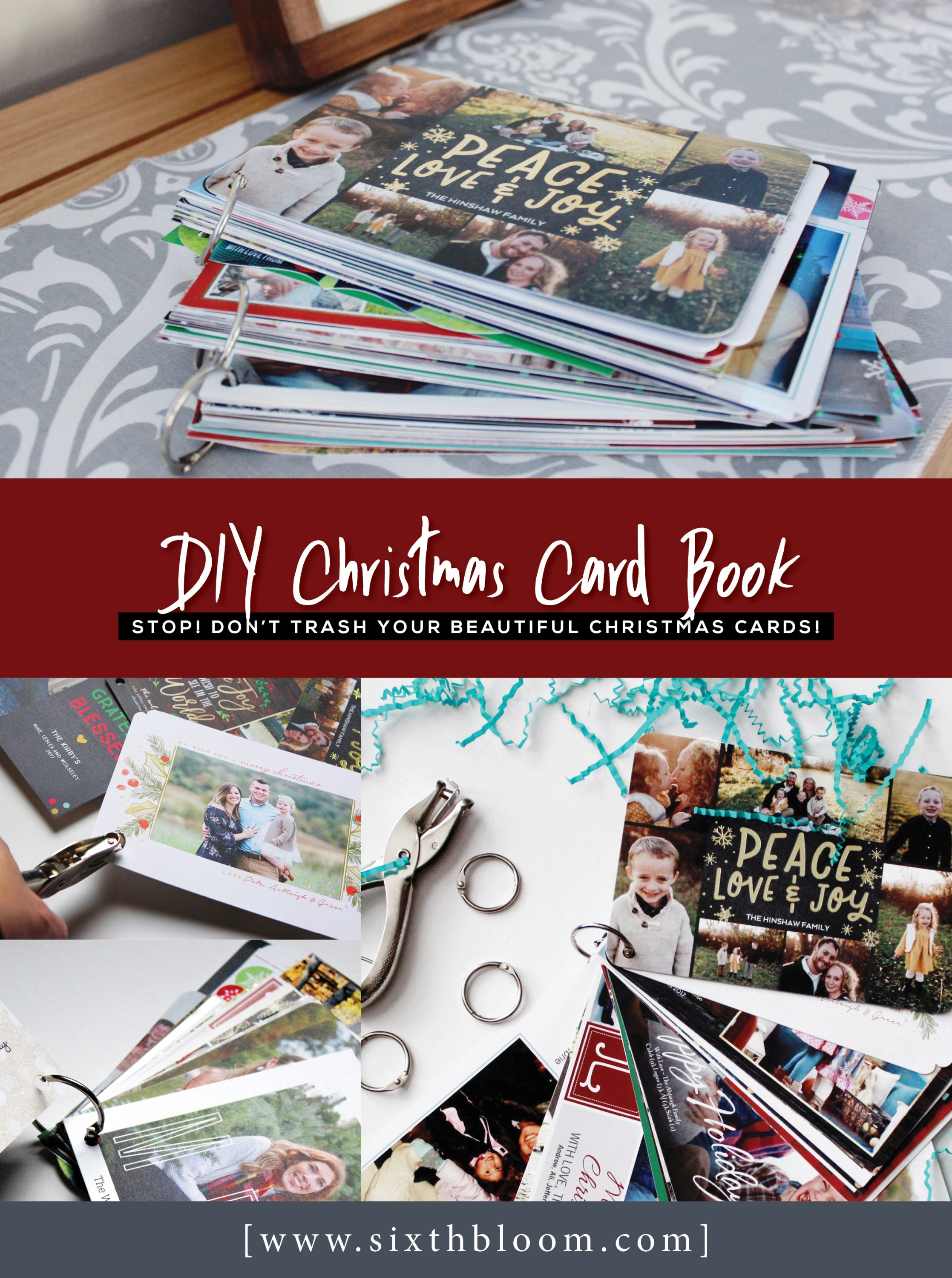 DIY Christmas Card Book
