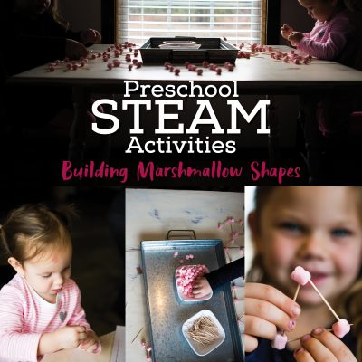STEAM Activities for Preschoolers | Building Marshmallow Shapes