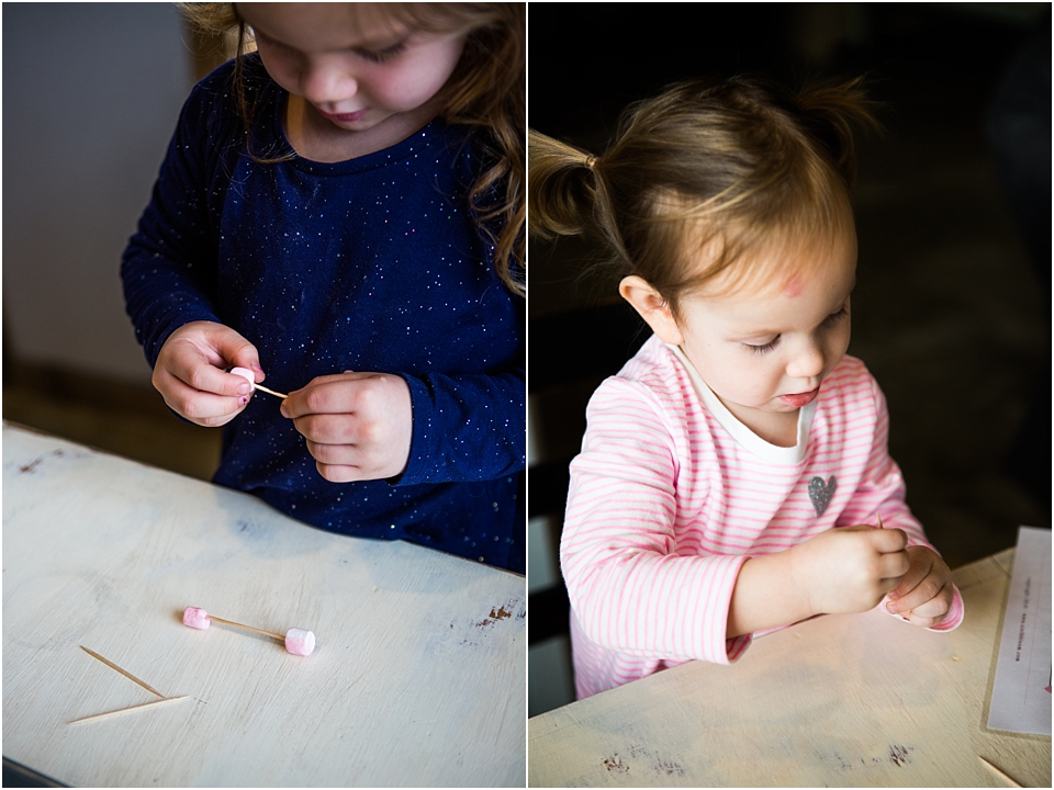 marshmallow shapes with toothpicks