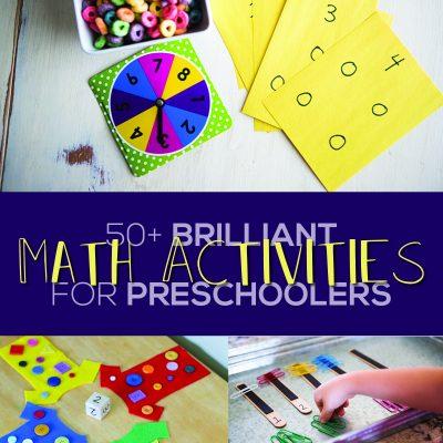 50+ Brilliant Math Activities for Preschoolers