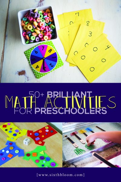 Math Activities for Preschoolers to learn using STEAM