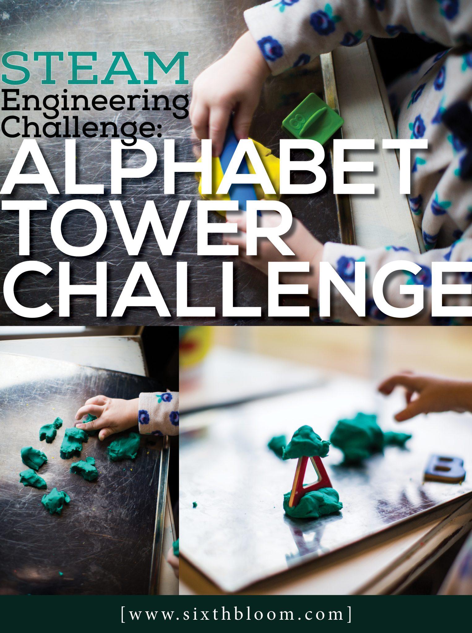 Alphabet Towers Engineering Preschool Activities Sixth
