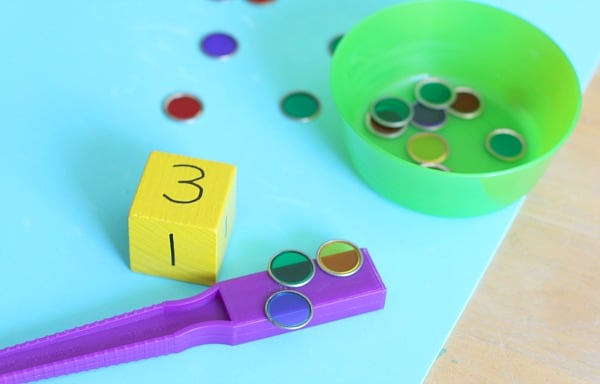 counting with objects for preschool math learning
