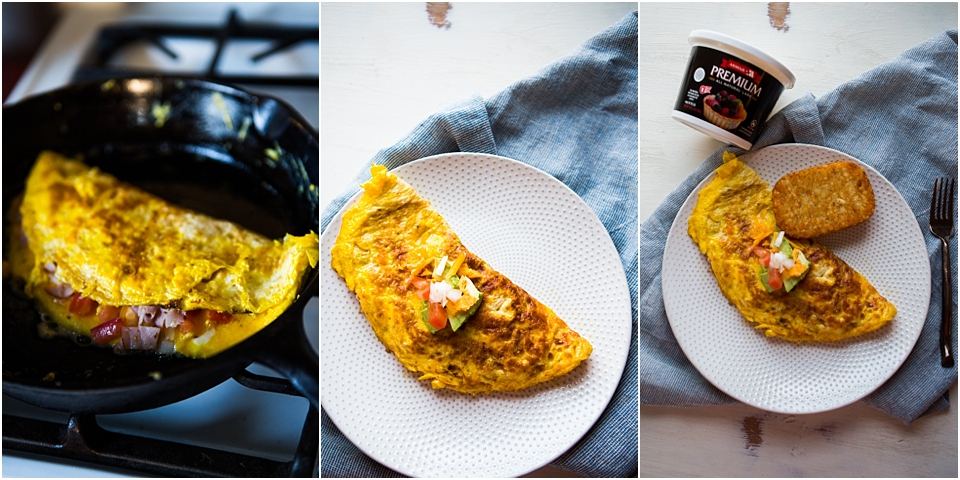 easy veggie breakfast omelet recipe