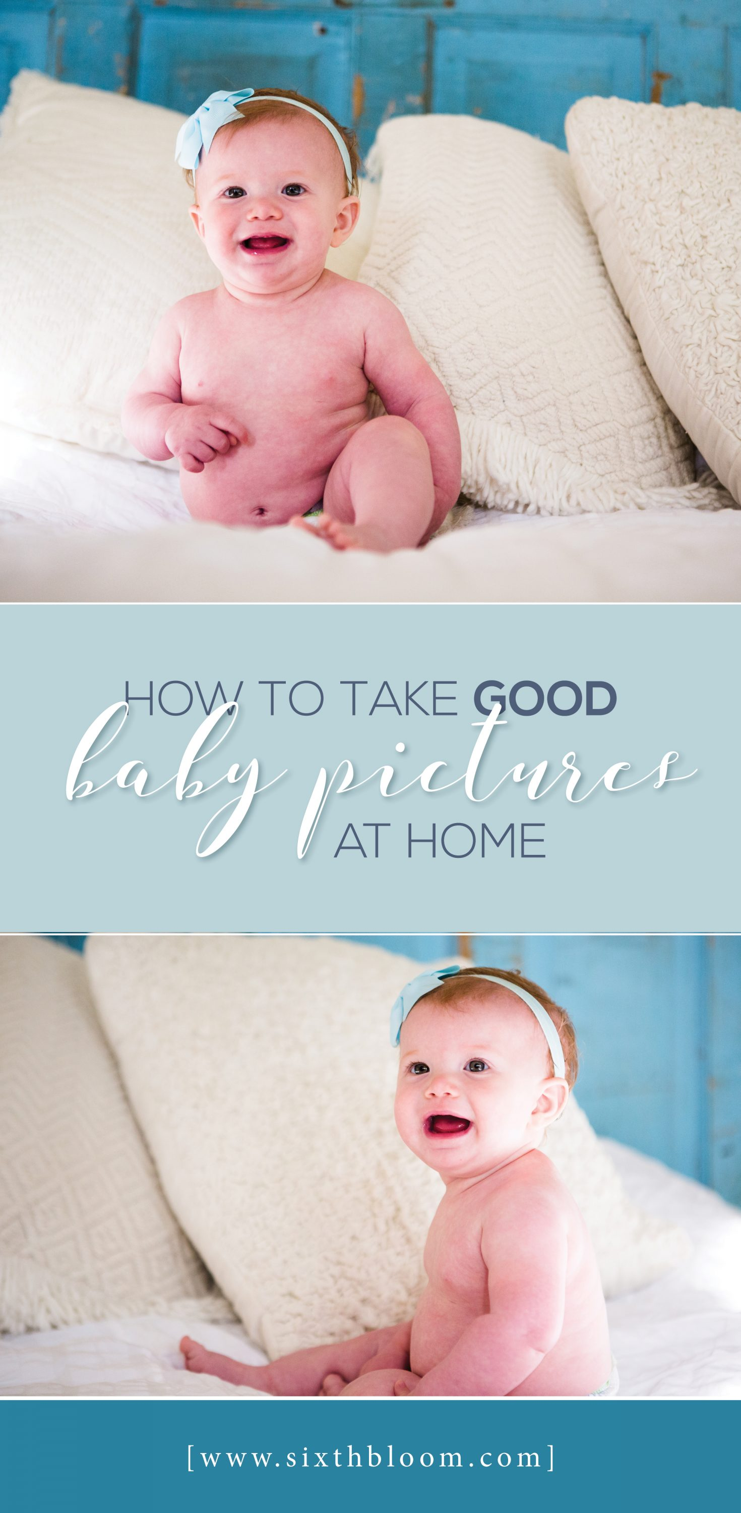 how to take baby pictures at home