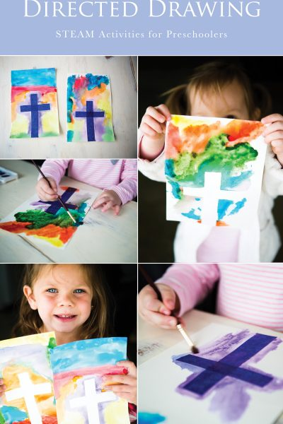 Easter Cross Spring Directed Drawing