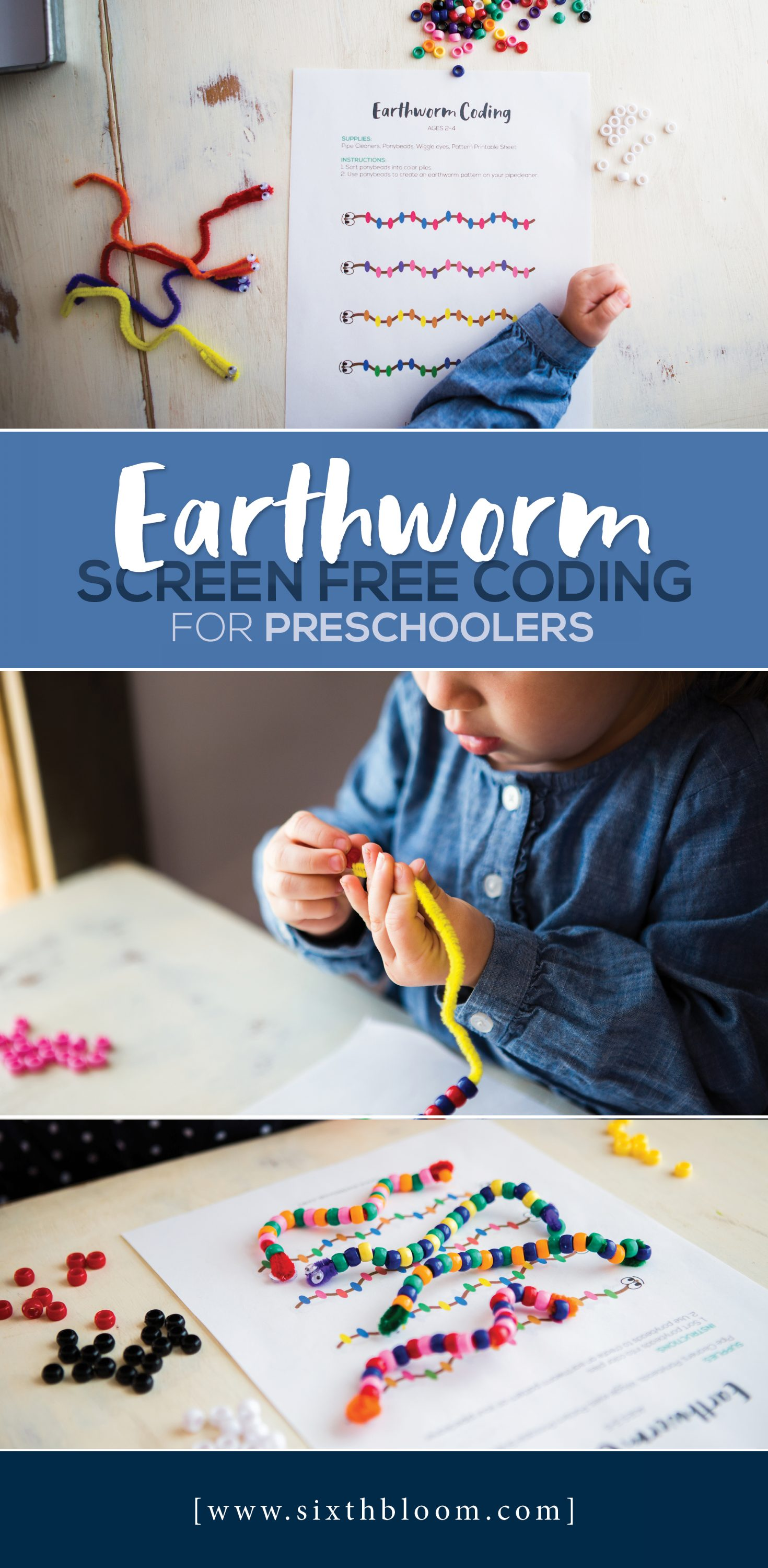 Earthworm Screen Free Coding for Preschoolers - Sixth Bloom ...