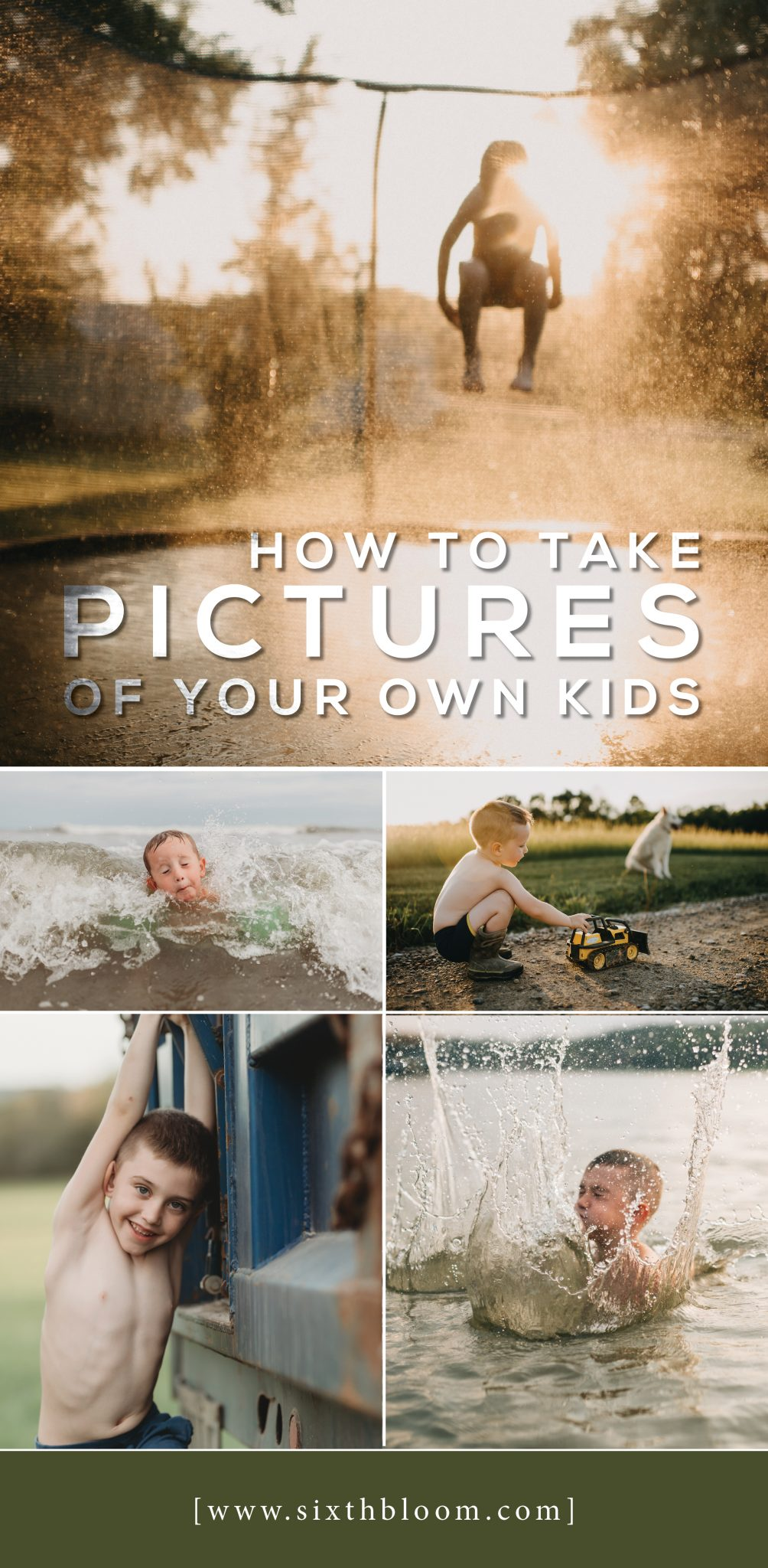 how to take pictures of your own kids