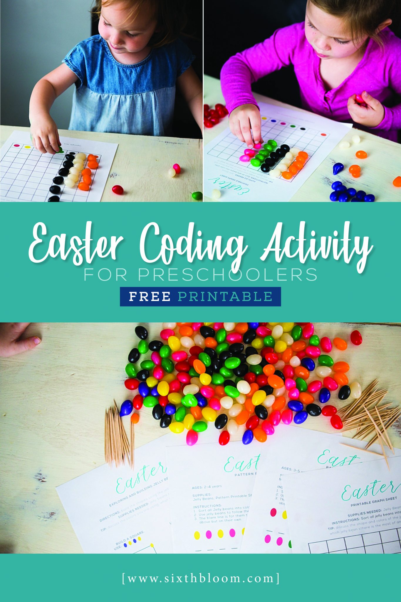Easter Coding Activity for Preschoolers