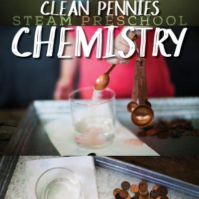 SCIENCE for Preschoolers – Cleaning Pennies