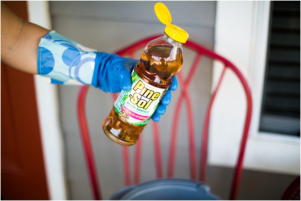 cleaning with pine-sol