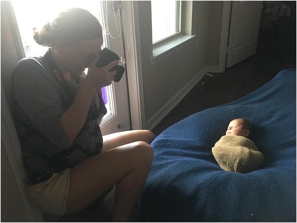 posing safety of a newborn