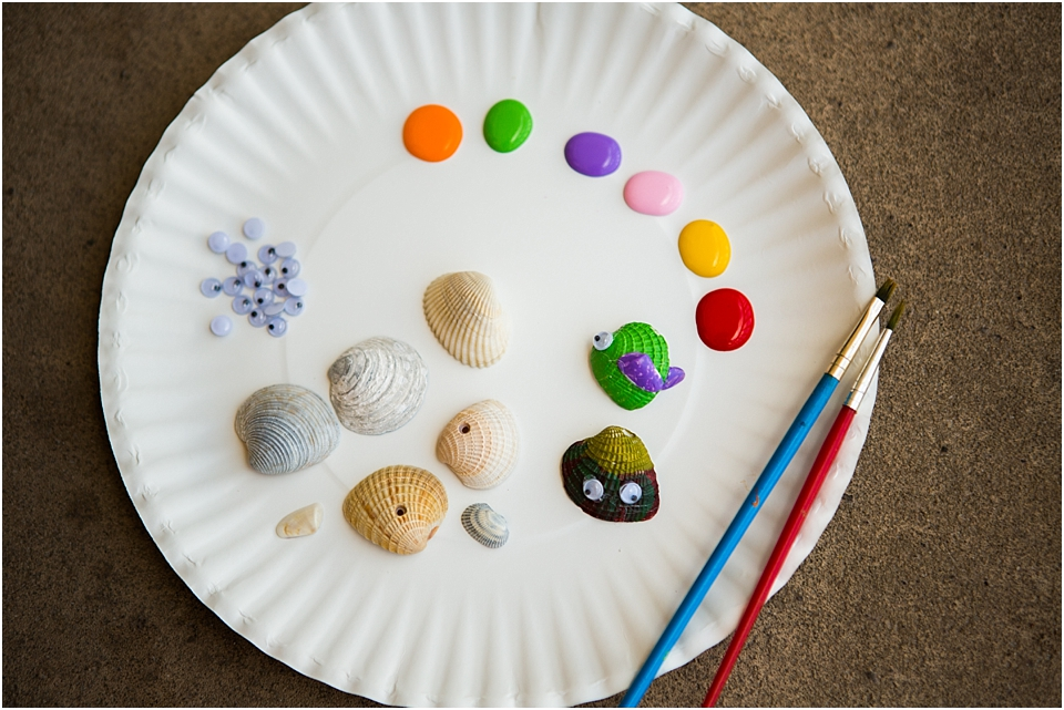 easy seashell art craft