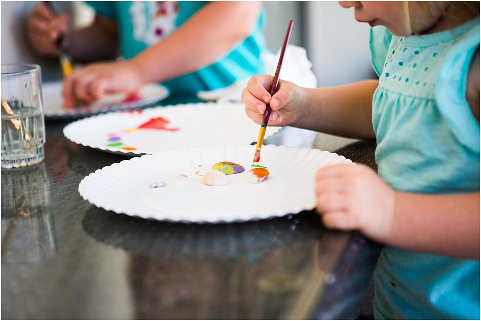 painting seashell crafts