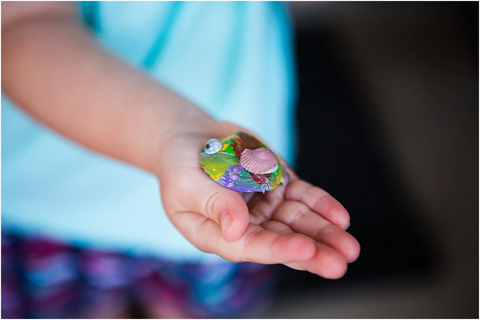 Seashell Painting for Preschoolers