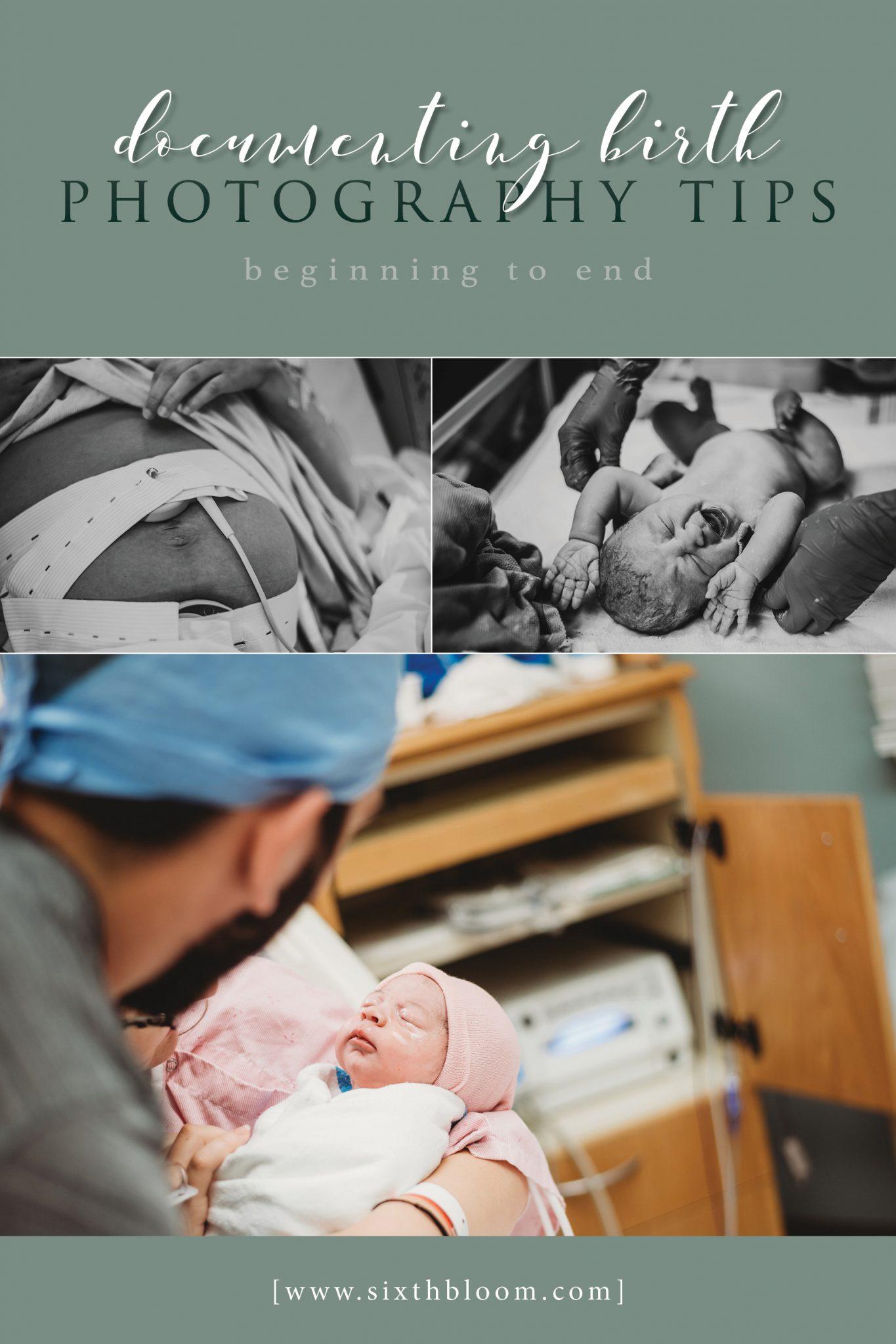Documenting a birth