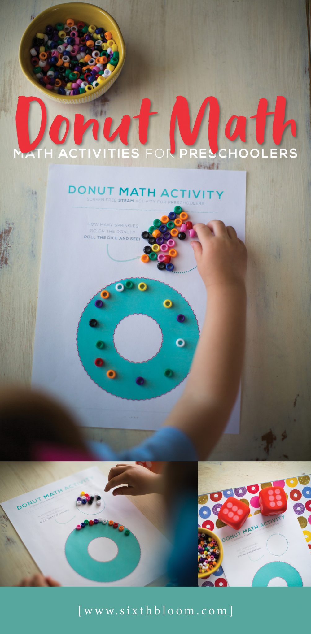 Donut Math - Math Activities for Preschoolers - Sixth Bloom