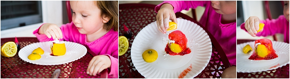 Easy Lemon Volcano Science for Preschoolers