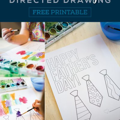 Fathers Day Directed Drawing – Free Printable