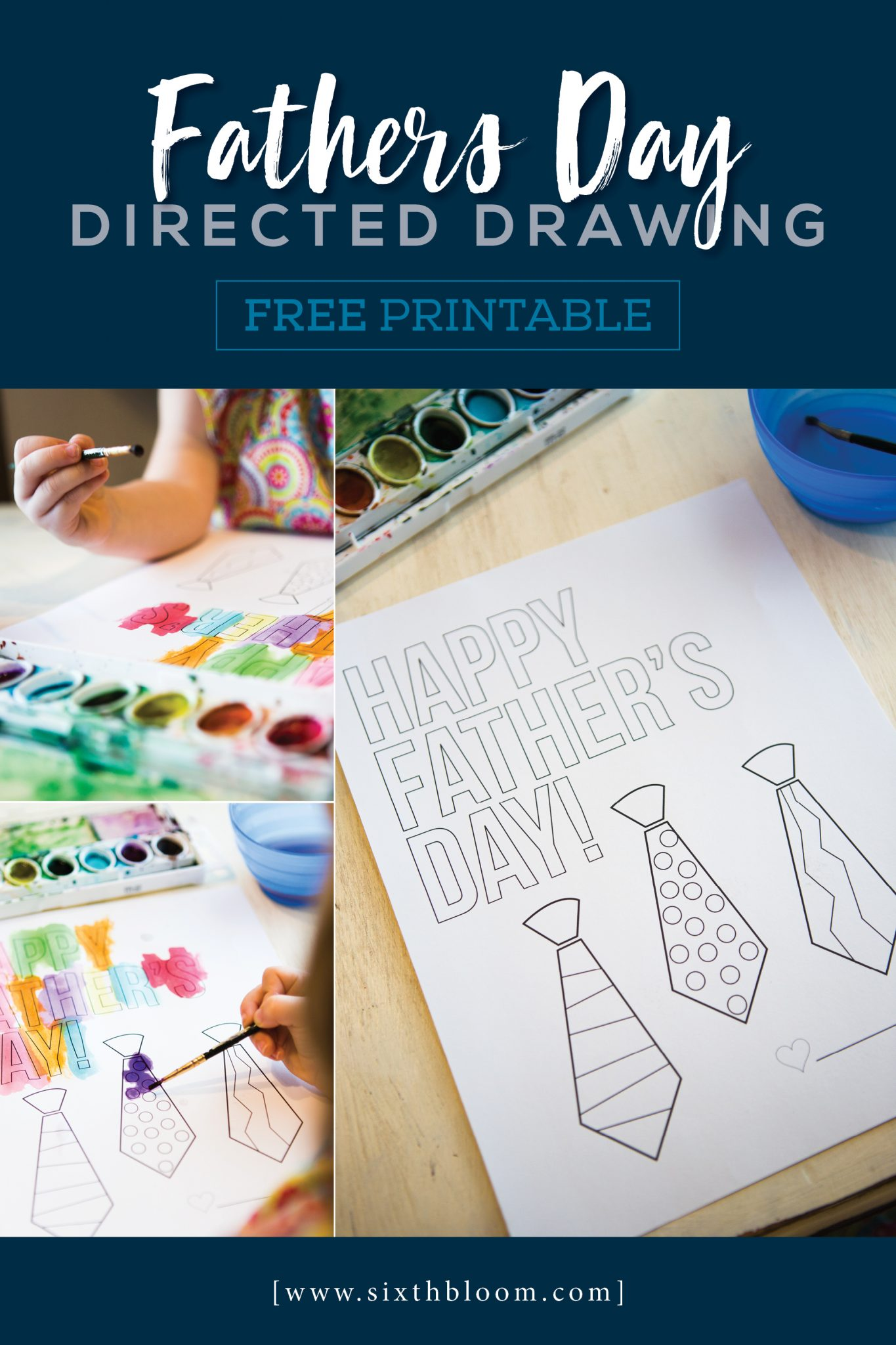 fathers day directed drawing free printable