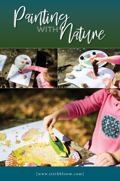 Painting with Nature Items – Preschool STEAM Activities