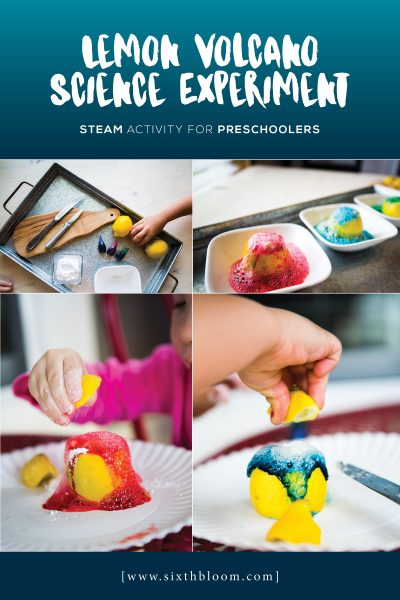 Easy Lemon Volcano Science for Preschoolers