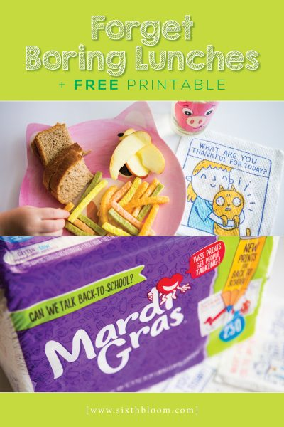 Forget Boring Lunches + Free Printable