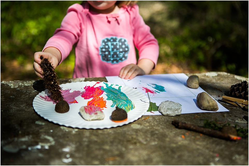 painting with nature items