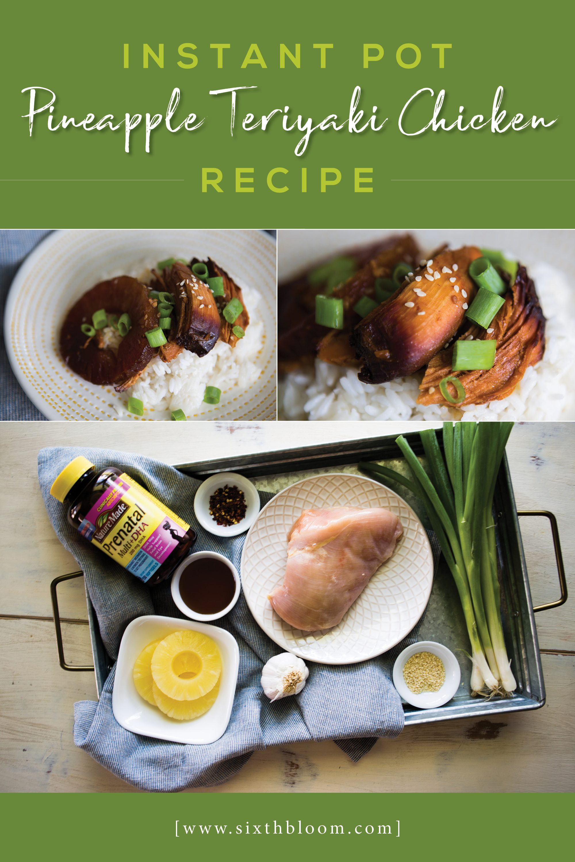 Instant Pot Teriyaki Pineapple Chicken recipe, instant pot, ip recipe, instant pot recipe