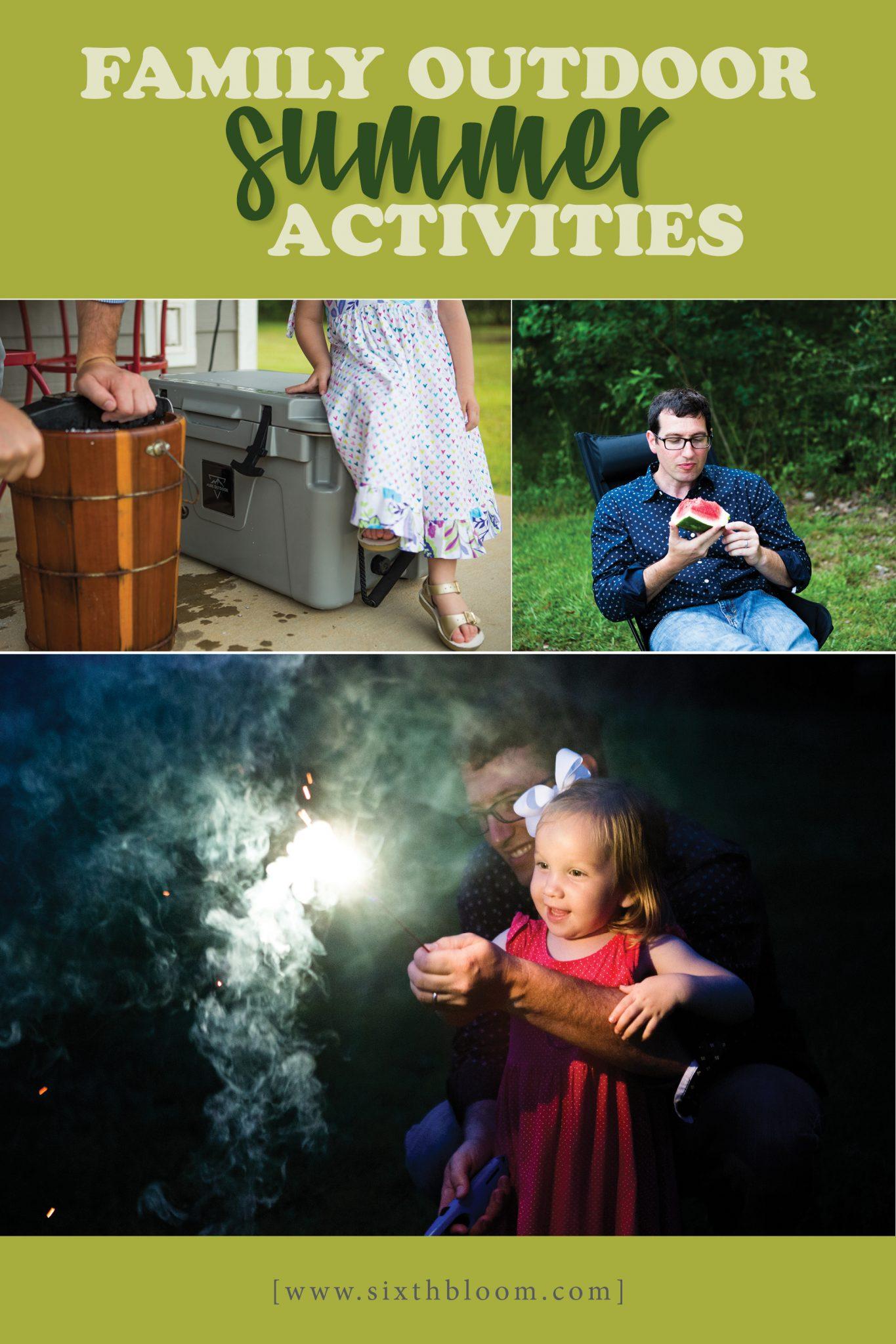 family outdoor summer activities