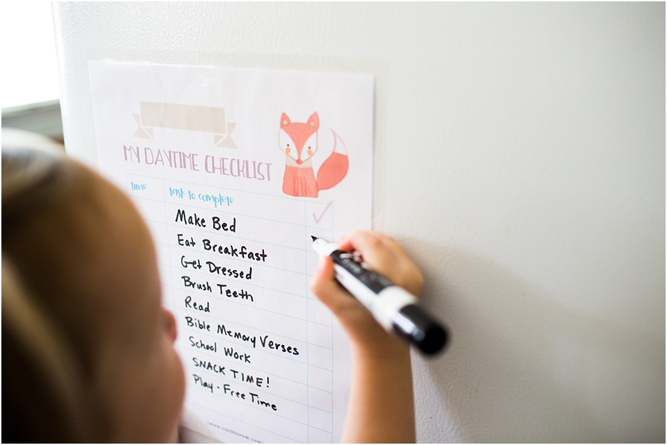 Preschool Morning Routine + Free Printable