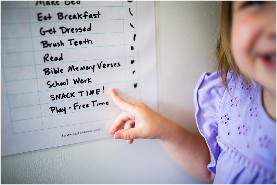 Preschool Morning Routine - Free Printable