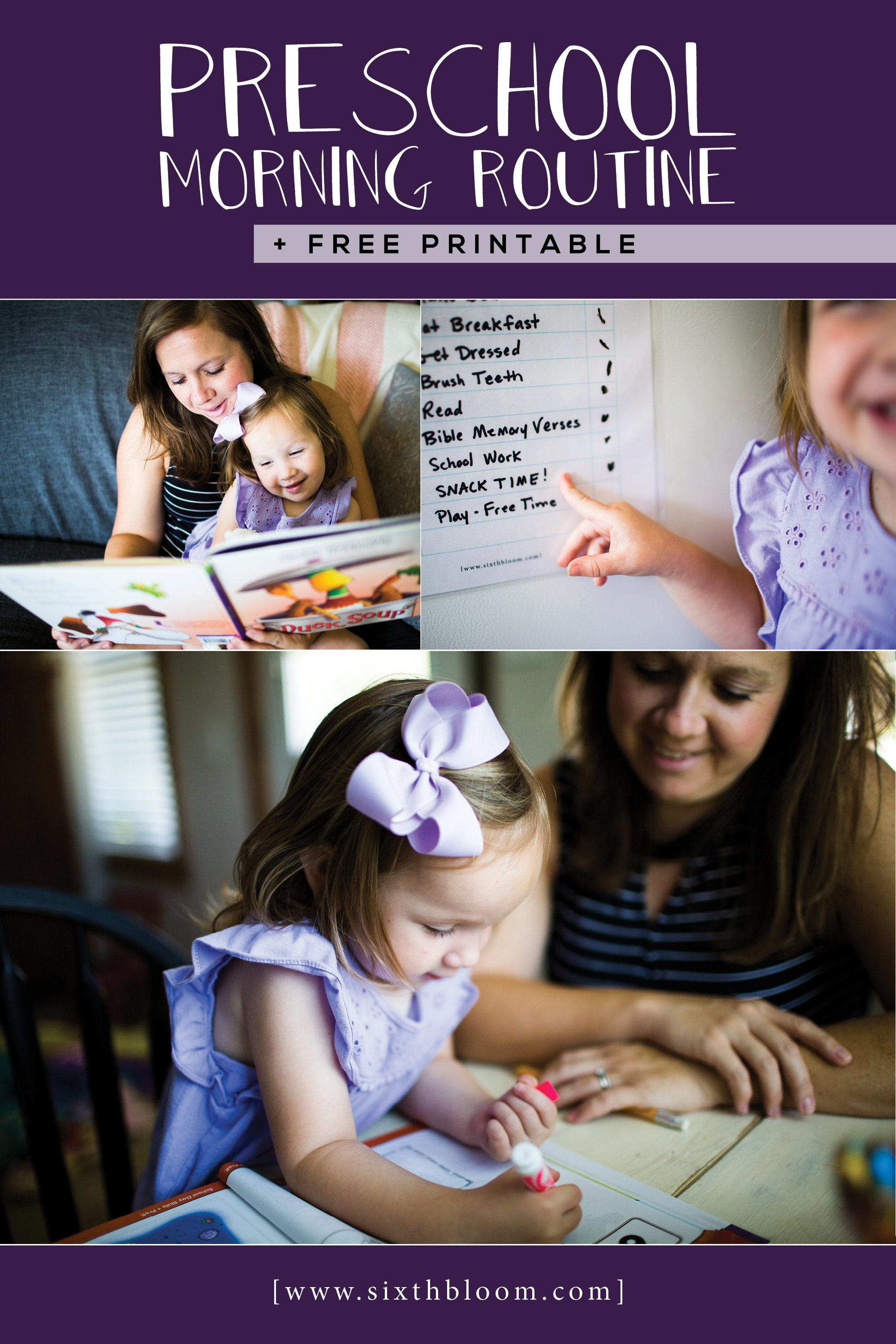 preschool routine printable