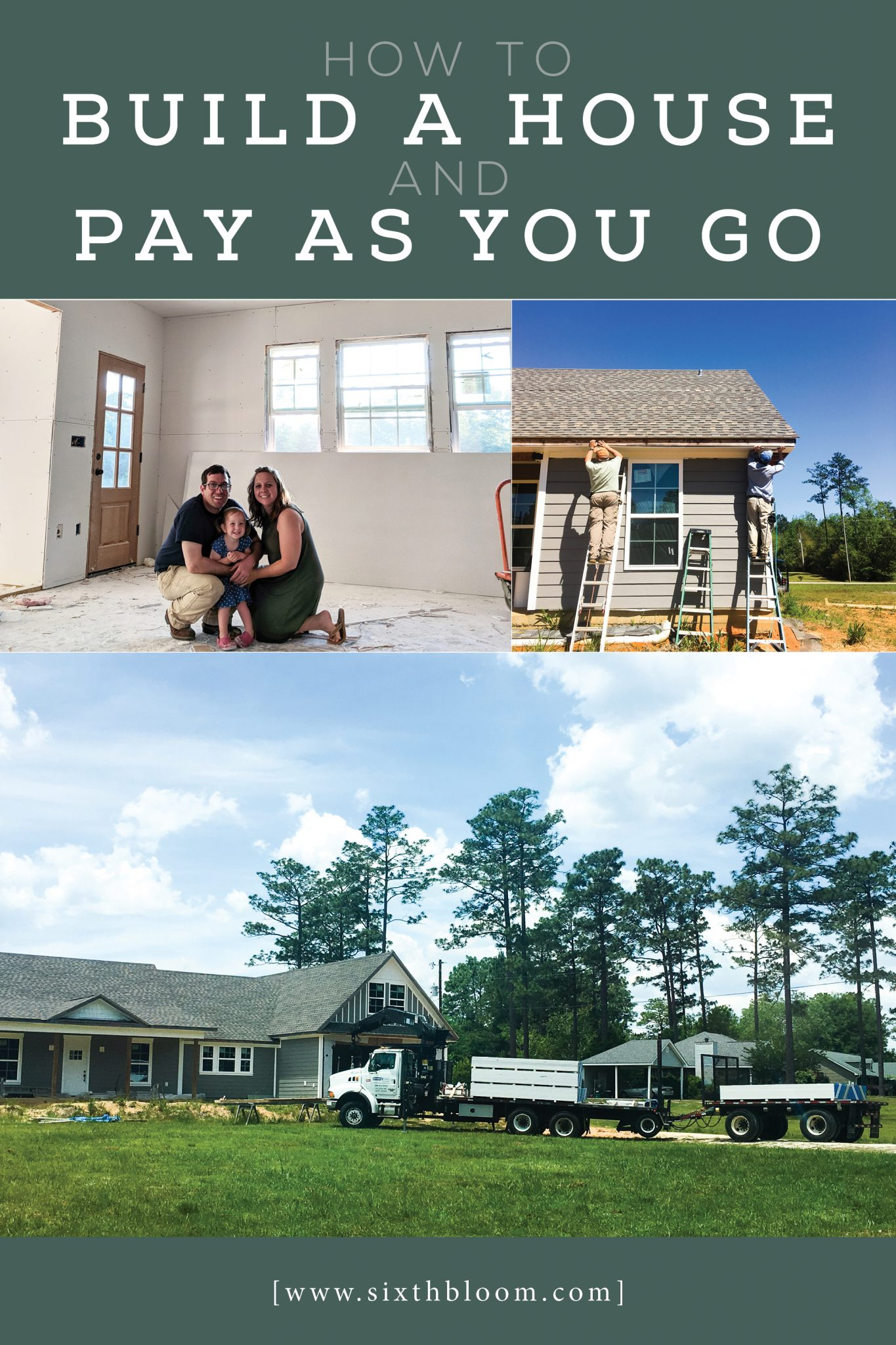 how to build a house and pay as you go