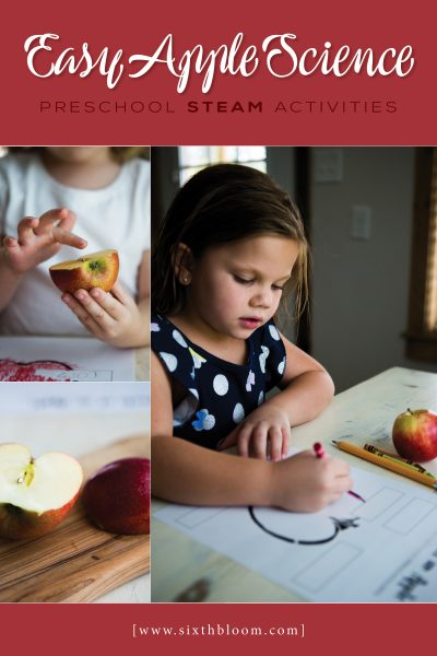 Preschool STEAM Activities – Apple Science