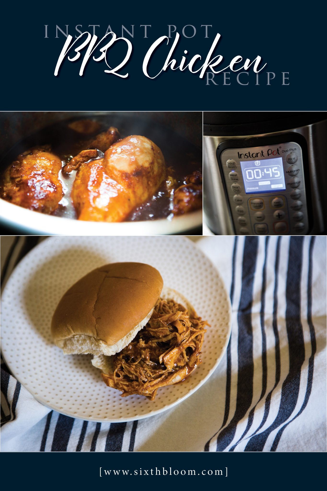 Instant Pot chicken BBQ recipe