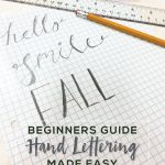Hand Lettering Tools for Beginners