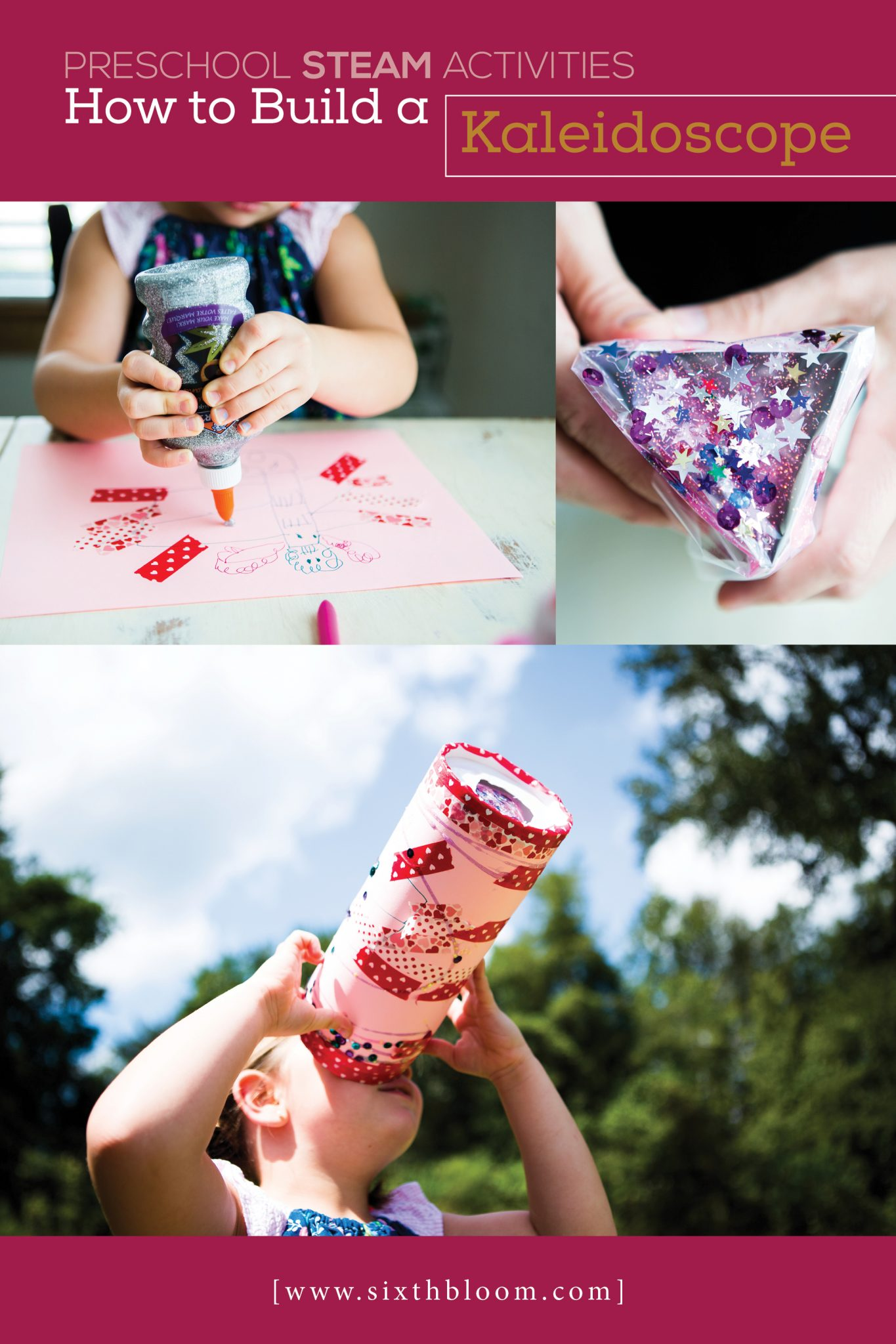 how to make a simple kaleidoscope