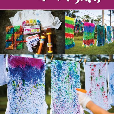 How to Tie Dye Shirts with Water Guns