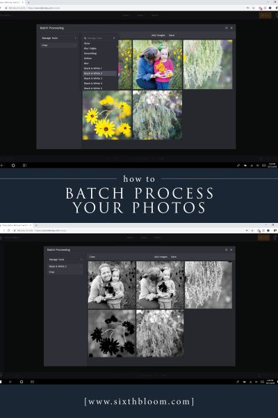 How to Batch Process your Photos