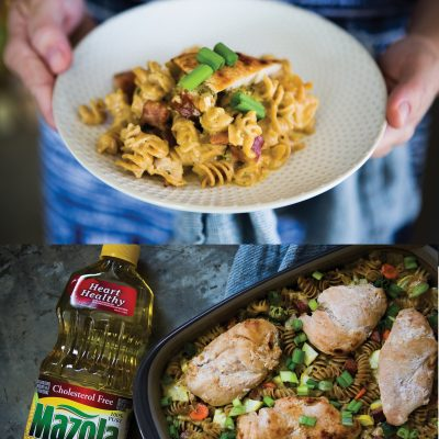 Cajun Chicken & Sausage Pasta Bake Recipe