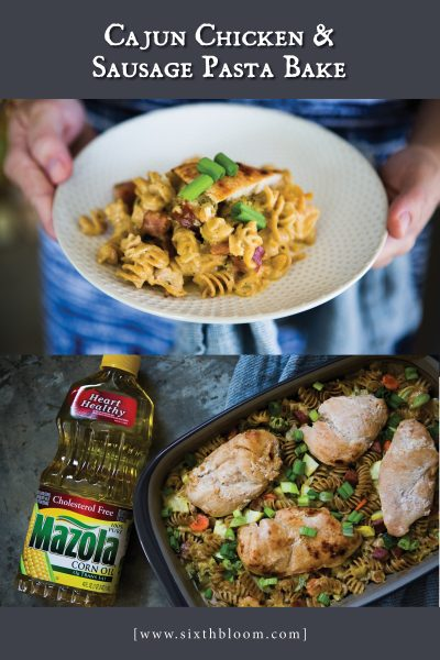 Cajun Chicken & Sausage Pasta Bake Recipe