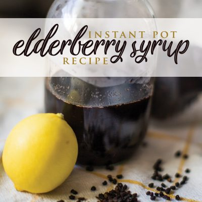 Instant Pot Elderberry Syrup Recipe