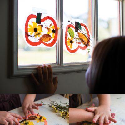 Pumpkin Suncatcher – Fall Preschool Craft