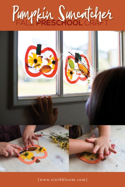Pumpkin Suncatcher – Fall Preschool Craft